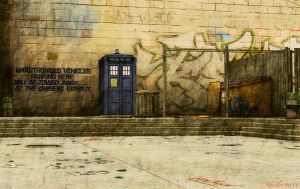 Tardis-Courtyard by Thunderossa