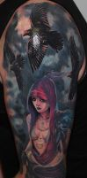 fantasy girl tattoo 2 by Remistattoo