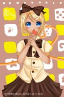 Kagamine Rin - Darling [[Re-Draw]] by naota-art