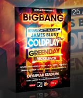 PSD BIGBANG FLYER TEMPLATE by retinathemes