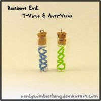 Resident Evil T-Virus and Anti-Virus Charms by Crazy8zCharmz