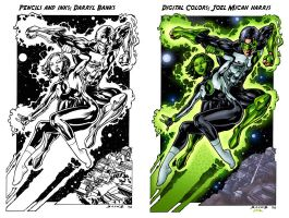 Green Lantern and Jade colors by jharris