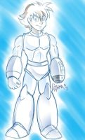 RS - Megaman Helmetless by SkyPirateDash