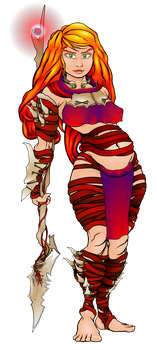 Bone Garb and Spear Staff by Of-the-Northwind