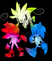 Triple Classic Hedgehog by misomin77