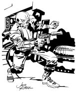 Jack Kirby Red Skull Inks by Irontree1973