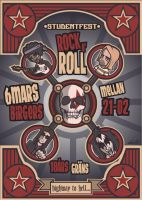 rock n roll poster by albertoo