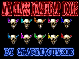 A7X Glass Deathbat Icons by graphicjunkie