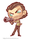 COmmission: The Walking Chibi Dead #Rick Grimes by HeiligerShadowfax
