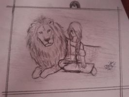 Lion And Girl by patita297