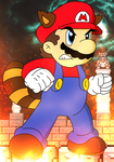 Determined Raccoon Mario - Colored by KingAsylus91