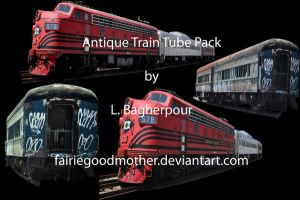 Antique Train Tube Pack by FairieGoodMother
