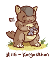 115 - Kangaskhan by Electrical-Socket