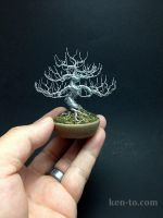 Deciduous wire bonsai tree by Ken To by KenToArt