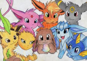 Eeveelutions by gina2595