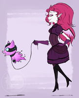 Vendra and her Nether Kitty by fox-song