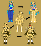 Kechi to Bee Harlet Transformation Timeline by KechiTheHedgie