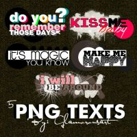 5 .PNG Texts by glamorousart