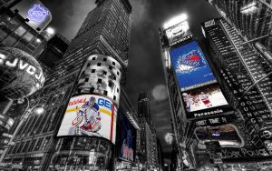 NHL New York Rangers Times Square Wallpaper by Realyze