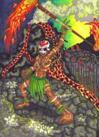 .::Shaman of Flame::. by Manicfool