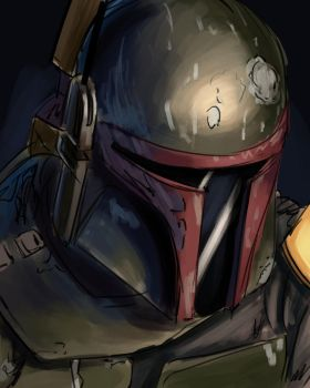 Boba Fett - May sketch a day by Konnee