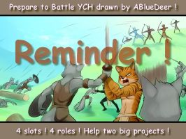 Prepare for battle YCH ! - Drawn by ABlueDeer ! by Little-shewolf9