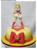 Sailor Moon Cake by dragonflydoces