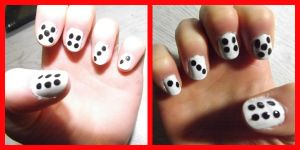 dice nails by ARAart