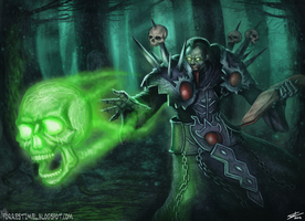 World of Warcraft Fan Art - Death Coil by ForrestImel