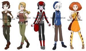 Pokemon Trainers by Hapuriainen