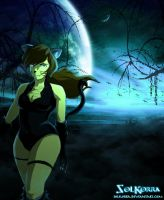Korra CatWoman Halloween Night by SolKorra