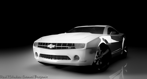 Camero Black And White by Samuel-Benjamin