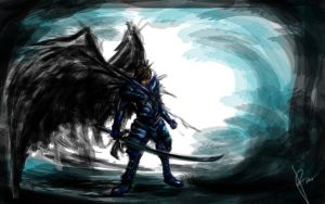 Winged Knight by Poporetto