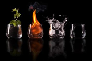 Earth, fire, water, air by Joffi