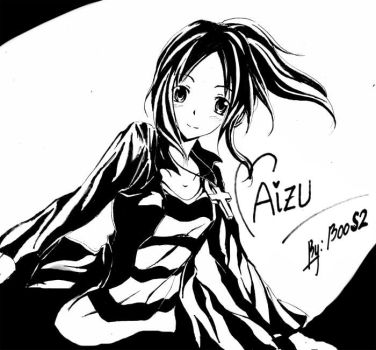 [GIFT] Aizu Blck and White by Aizu-chan