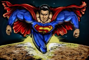 SuperMan colored by VickiBeWicked