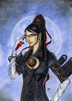 Bayonetta : Fly me to the moon... by iron-at