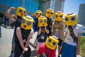 Servbot cosplay debut by Spambots