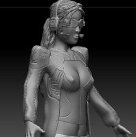 WIP Sci Fi Girl by spartanx118