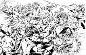 DBZ Heroes ink by Inker-guy
