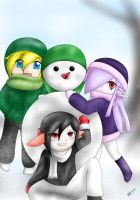 Dark,Link,and Vaati-Snow Time by MayJasmine