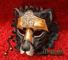 Armored Lion Leather Mask #2 by merimask