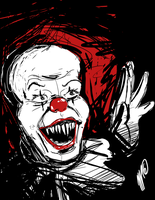 Horror Classics: Pennywise by SGTMADNESS