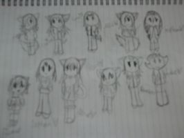 Female chibis part 1 by AngeltheEchidna45