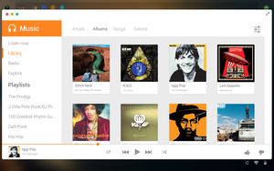 GoogleOS Concept - Music in Offline mode by andreafilisitosovna
