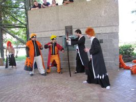 A-Kon 21 Bleach vs. Naruto 01 by FlowerNinjaA