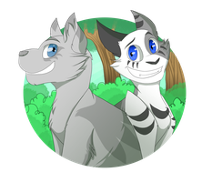 Ivypool and Dovewing [t-shirts for sale!] by Jay-Pines