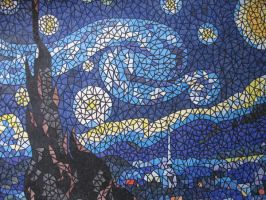 A Starry Night Mosaic by DesFeuer