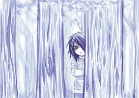 In the blue forest by Moemai
