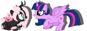 Pomf and Twilight by iPandacakes